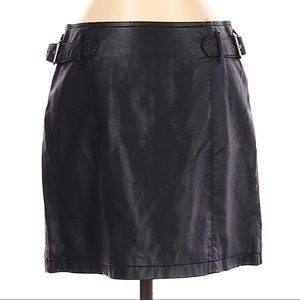 Free People Black Charli Vegan Leather Skirt -sz 4